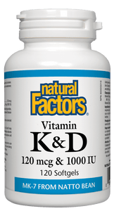 Natural Factors Vitamin K2 + D3 120 Softgels