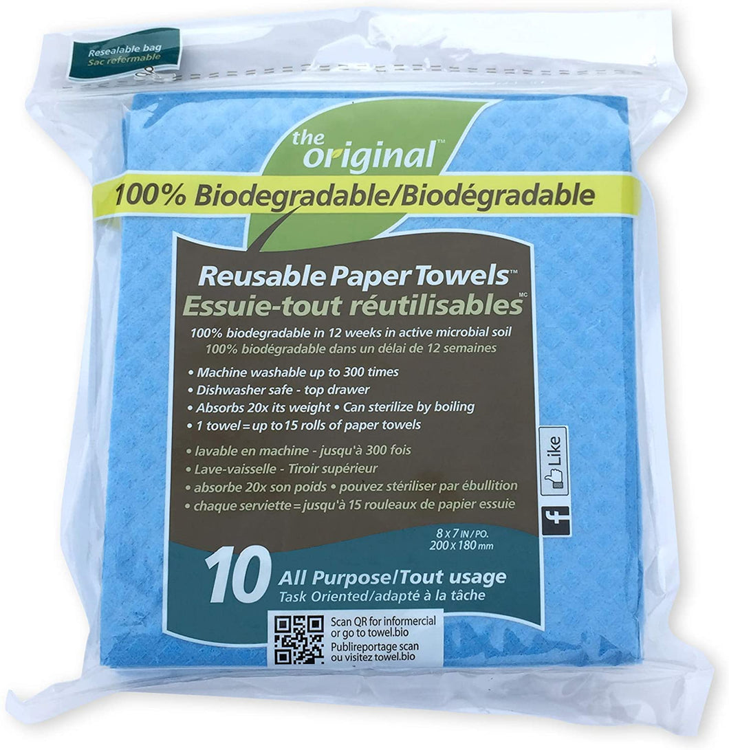 TO Reusable Paper Towels All Purpose 10ct