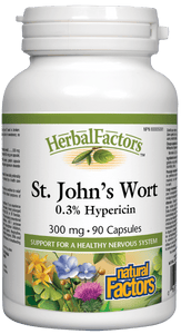 Natural Factors St. John's Wort 300mg 90 Capsules