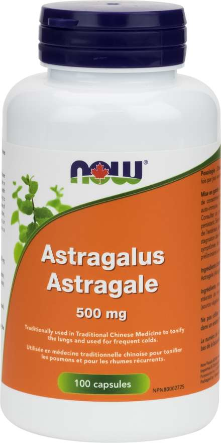 NOW Astragalus 500mg 100 Capsules