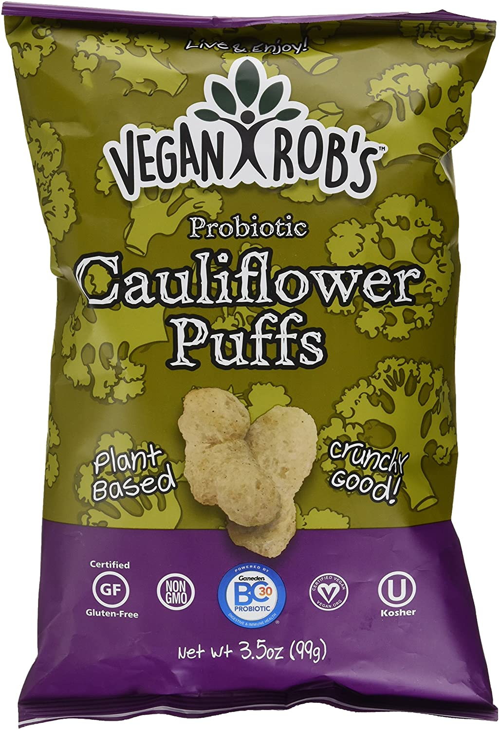 Vegan Rob's Probiotic Cauliflower Puffs 99g