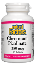Load image into Gallery viewer, NF Chromium Picolinate 250mcg 90tab
