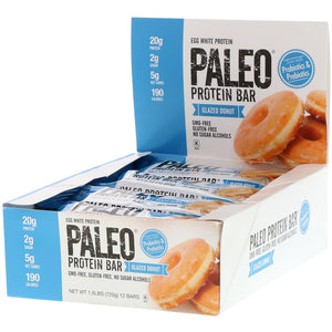 JB Paleo Glazed Donut Protein Bar CS x 12