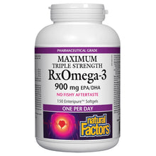 Load image into Gallery viewer, Natural Factors RxOmega Triple Strength 150 Softgels BUY ONE GET ONE FREE!