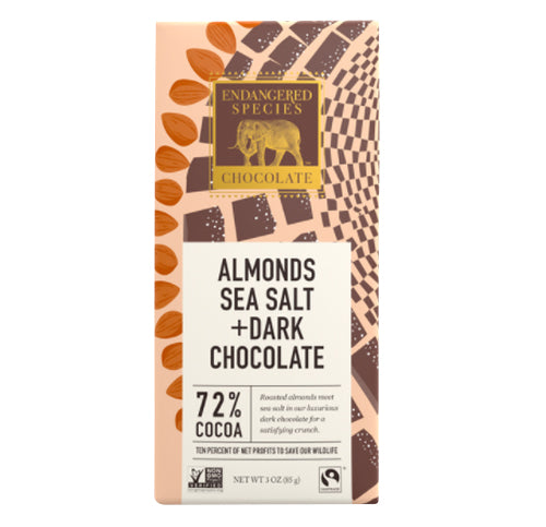 Owl Dk w/ Almonds and Sea Salt Choc Bar 85g