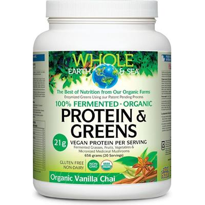 Whole Earth And Sea Protein and Greens Vanilla Chai 656g