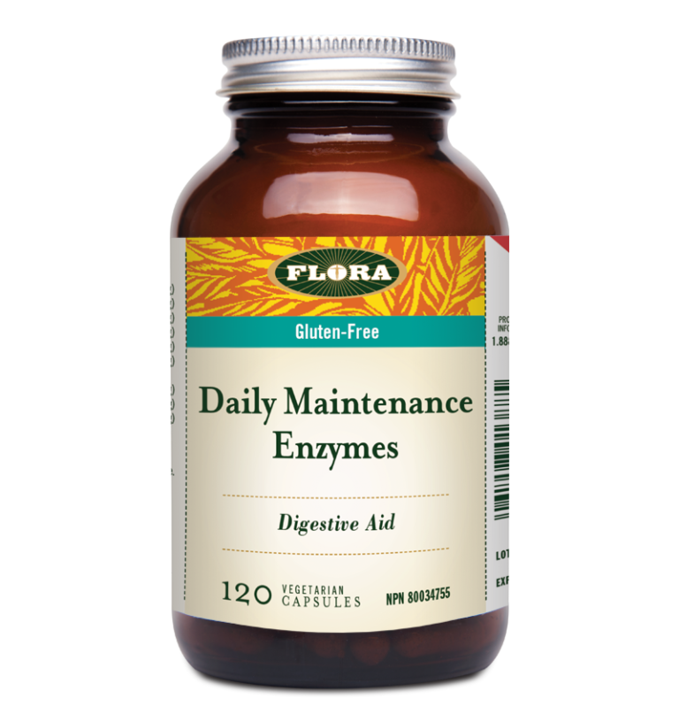 Flora Daily Maintenance Enzyme 120 veg capsules