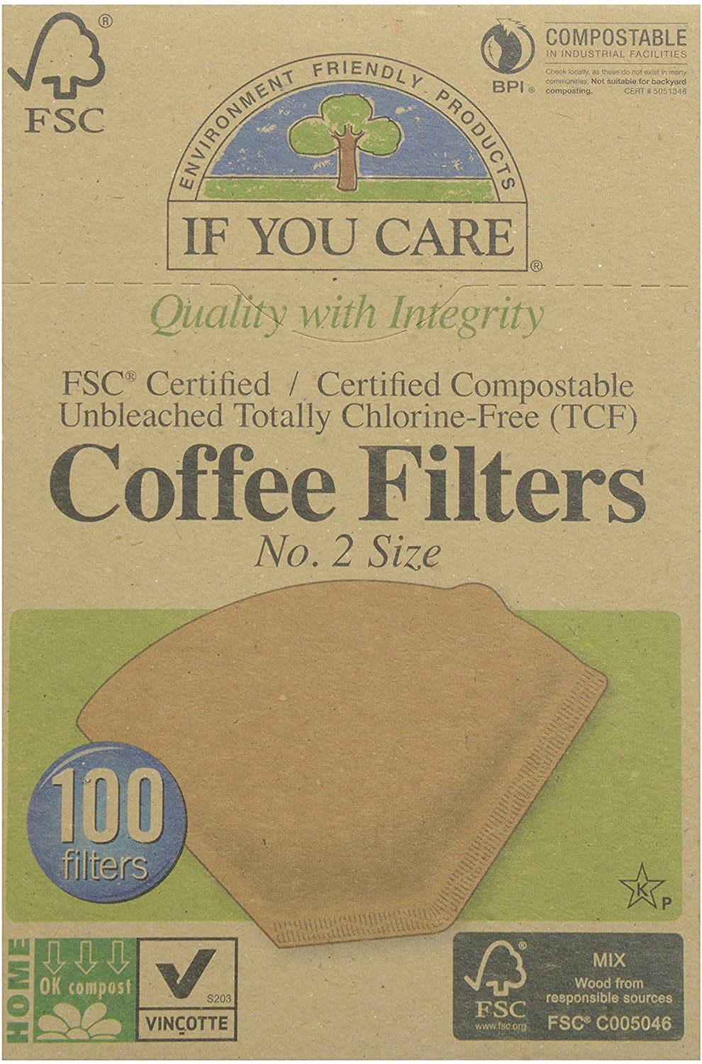IYC Coffee Filters #2 100pc