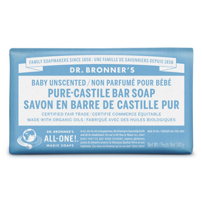 Dr Bronner's Unscented Bar Soap 140g