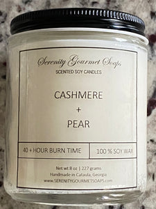 CASHMERE & PEAR 8 oz SOY CANDLE