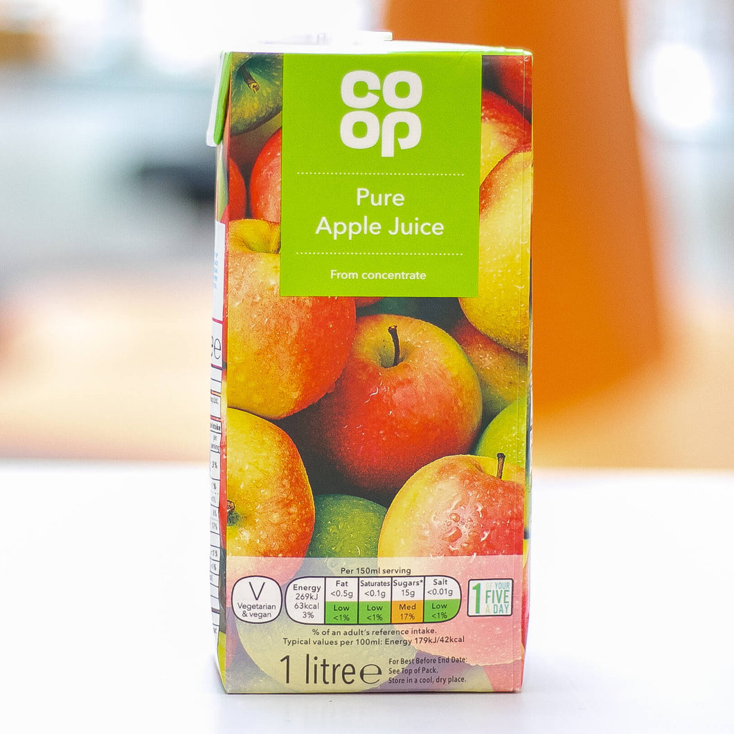 Co Op Pure Apple Juice 1 Litre