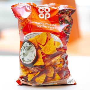 Co Op Nacho Cheese Tortilla Chips