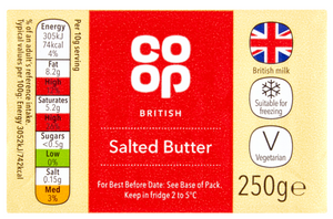 Co Op Salted Butter