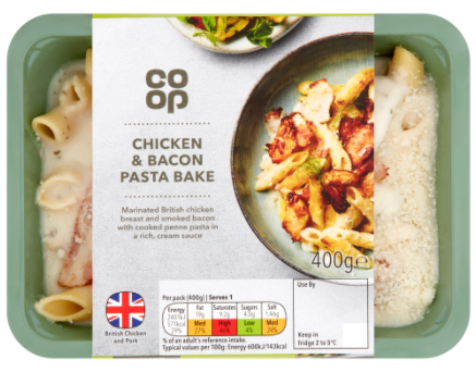 Co Op Chicken & Bacon Pasta Bake 400g