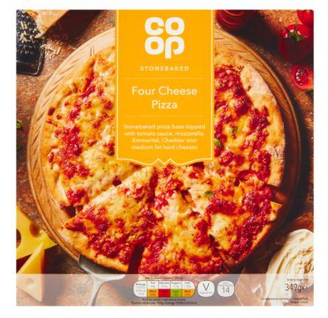 Co-op Stonebaked Four Cheese Pizza 349g