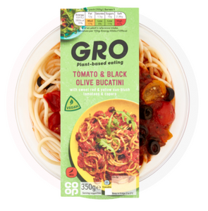 Co-op GRO Tomato & Black Olive Bucatini 350g