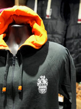 Load image into Gallery viewer, RHUL Front Crest Slate Hoodie Zipped.