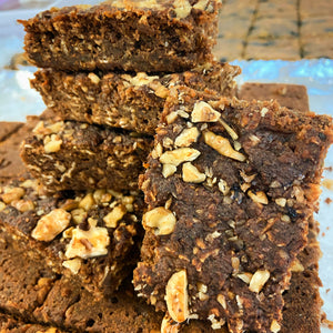 Zucchini Carrot & Walnut Bars