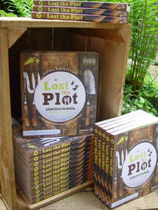 Lost the Plot allotment book and allotment guide display stand
