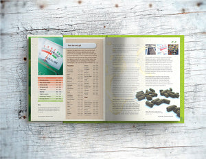 Double page spread showing page content, testing the soil pH, of Lost the Plot allotment book by allotment junkie