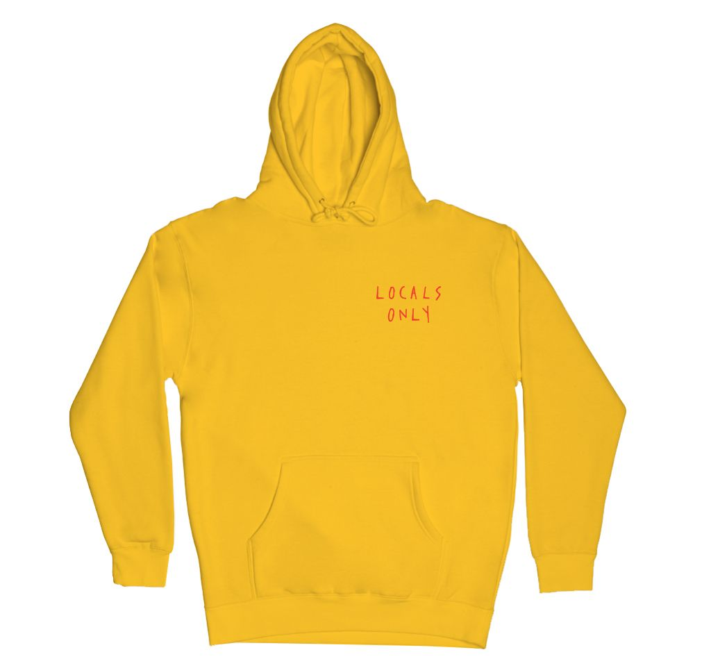 Locals Only Hoodie Yellow