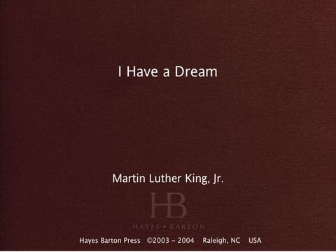 I Have a Dream | Zookal Textbooks | Zookal Textbooks