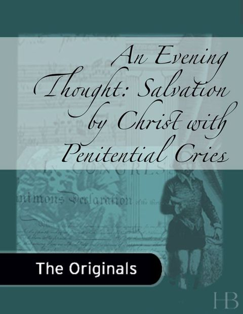 An Evening Thought: Salvation by Christ with Penitential Cries | Zookal Textbooks | Zookal Textbooks