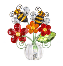 Load image into Gallery viewer, Bee on flower acrylic pot