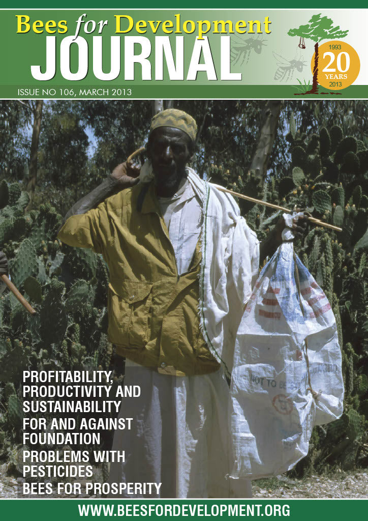 Bees for Development Journal Issue 106, March 2013 (Digital Download PDF)