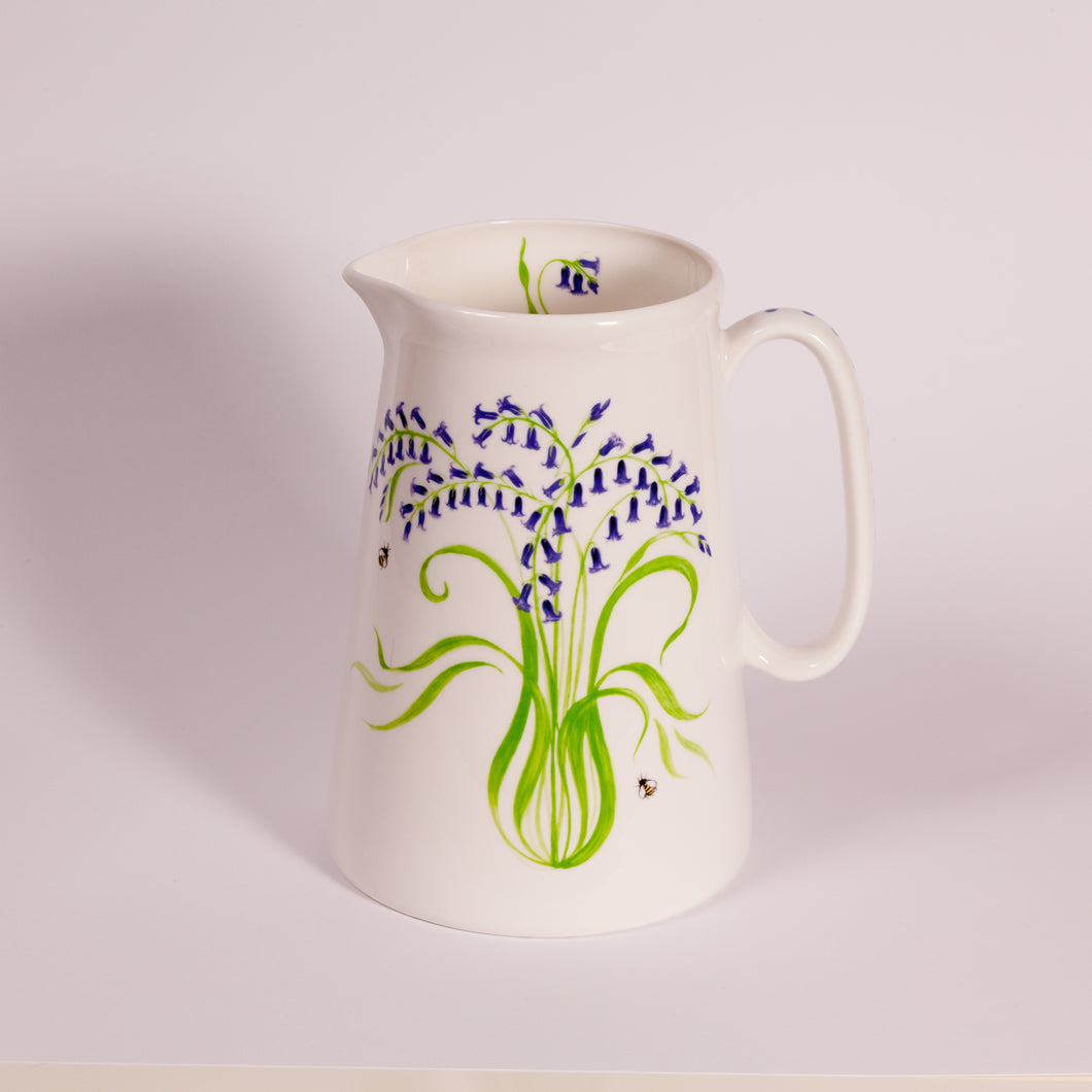 Bluebells Bone China Jugs - Gabriella Shaw Ceramics