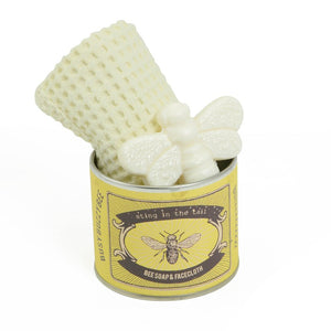 Mini bee soap & facecloth in a tin - Sting in the Tail