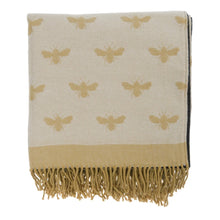 Load image into Gallery viewer, Bees Knitted Picnic Blanket - Sophie Allport