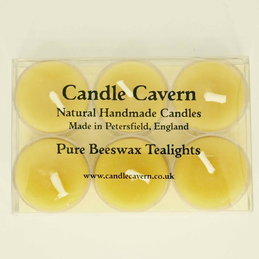 Pure Beeswax Tealights - Candle Cavern