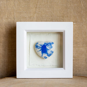 Framed ceramic heart - Clare Mahoney