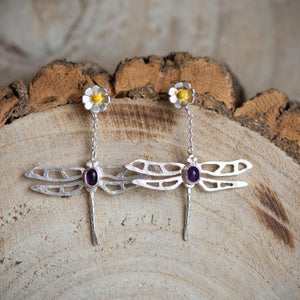 Dragonfly Drop Earrings - Jess Withington
