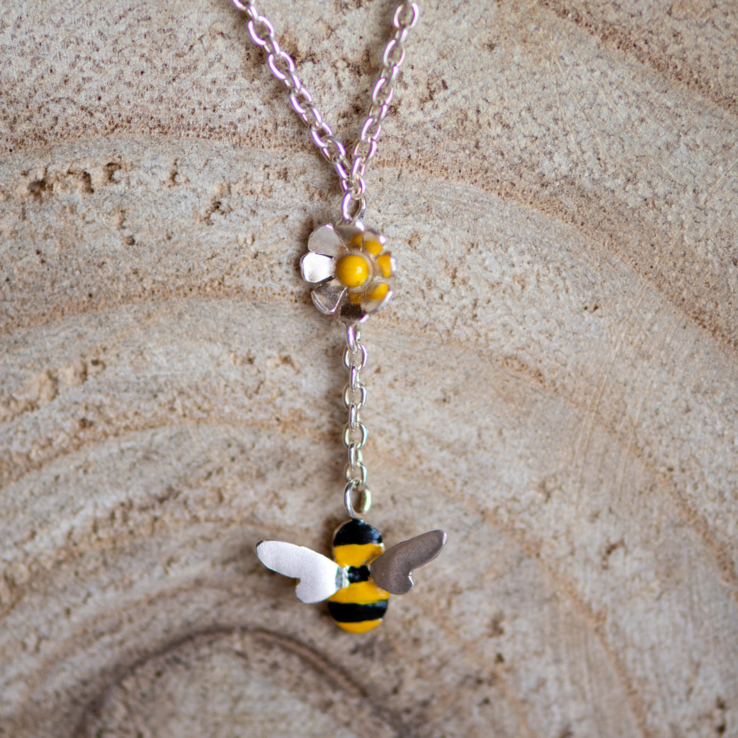 Single Bee Drop Necklace - Jess Withington