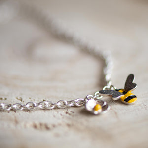 Single Bee and Daisy Bracelet - Jess Withington