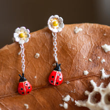 Load image into Gallery viewer, Ladybird Drop Earrings - Jess Withington