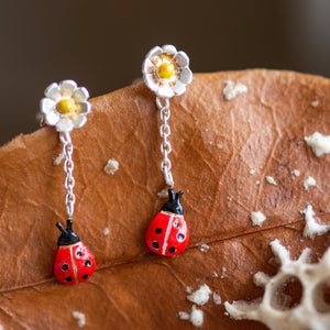 Ladybird Drop Earrings - Jess Withington