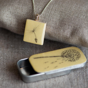 Cottage Garden Scrabble Tile Pendants - Leigh Shepherd Designs