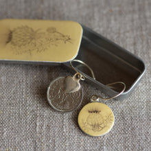 Load image into Gallery viewer, Cottage Garden Sixpence Earrings - Leigh Shepherd Designs