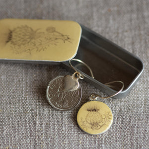 Cottage Garden Sixpence Earrings - Leigh Shepherd Designs