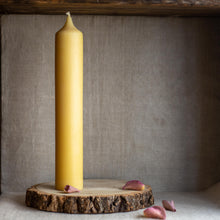 Load image into Gallery viewer, Natural beeswax pillar candles