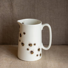 "Load image into Gallery viewer, ""Bees en route"" farmhouse jug - Blue Artemis"