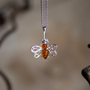 Tiny honey bee necklace - Henryka