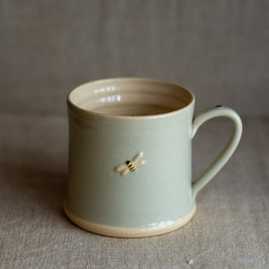 Hogben Pottery mug - bee and ladybird