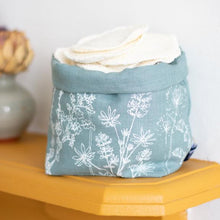 Load image into Gallery viewer, Linen storage pot - Helen Round