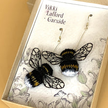 Load image into Gallery viewer, Bumble bee earrings - Vikki Lafford Garside