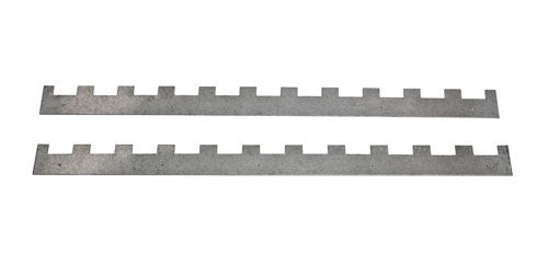 National 11 slot metal castellated spacers, pair