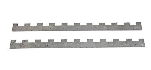 National 10 slot Metal Castellated Spacers, pair